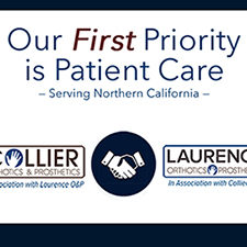 Collier Orthotics and Prosthetics in association with Laurence Orthotics and Prosthetics logo